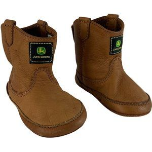 John Deere Baby Boots Size 4 Leather Old Stock Wes